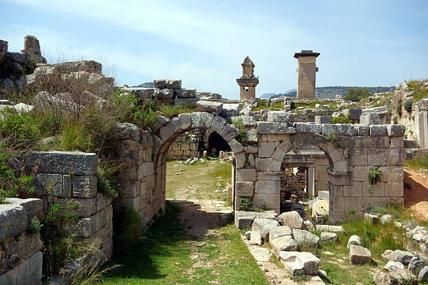 Ancient Ruines Of Xanthos, Lycia, Turkey stock photo
