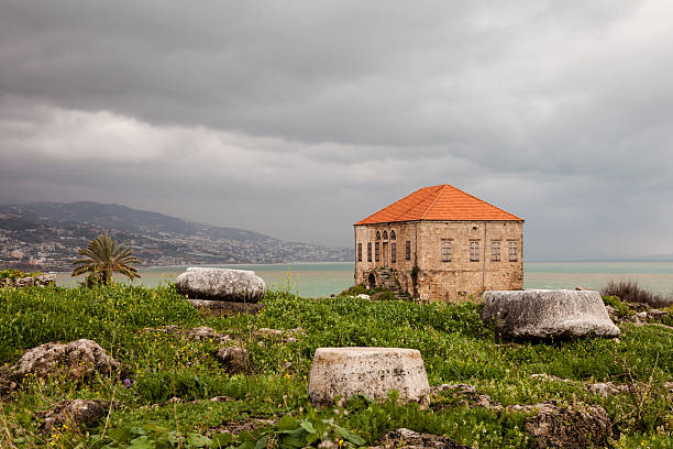 Ancient Ruins Byblos Lebanon stock photo