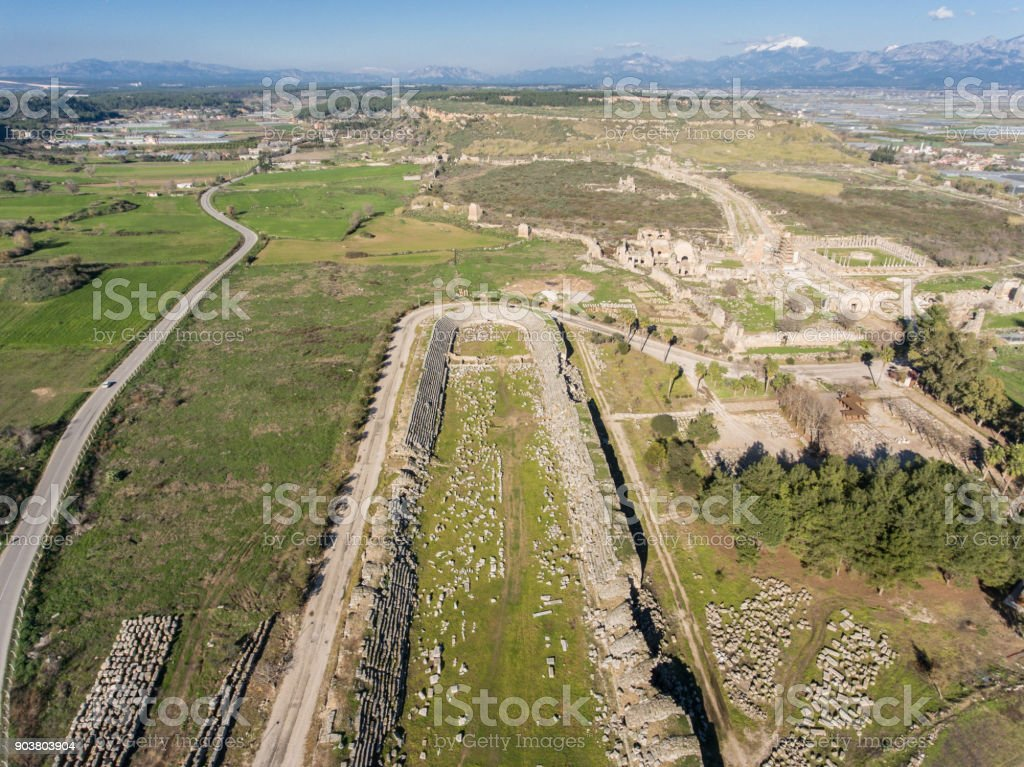 Ancient Ruins From An Old Empire stock photo