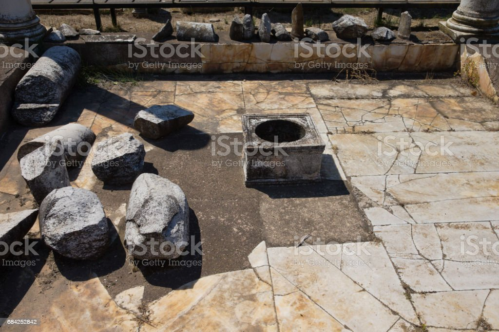 Ancient ruins in Dion, Greece. photo libre de droits