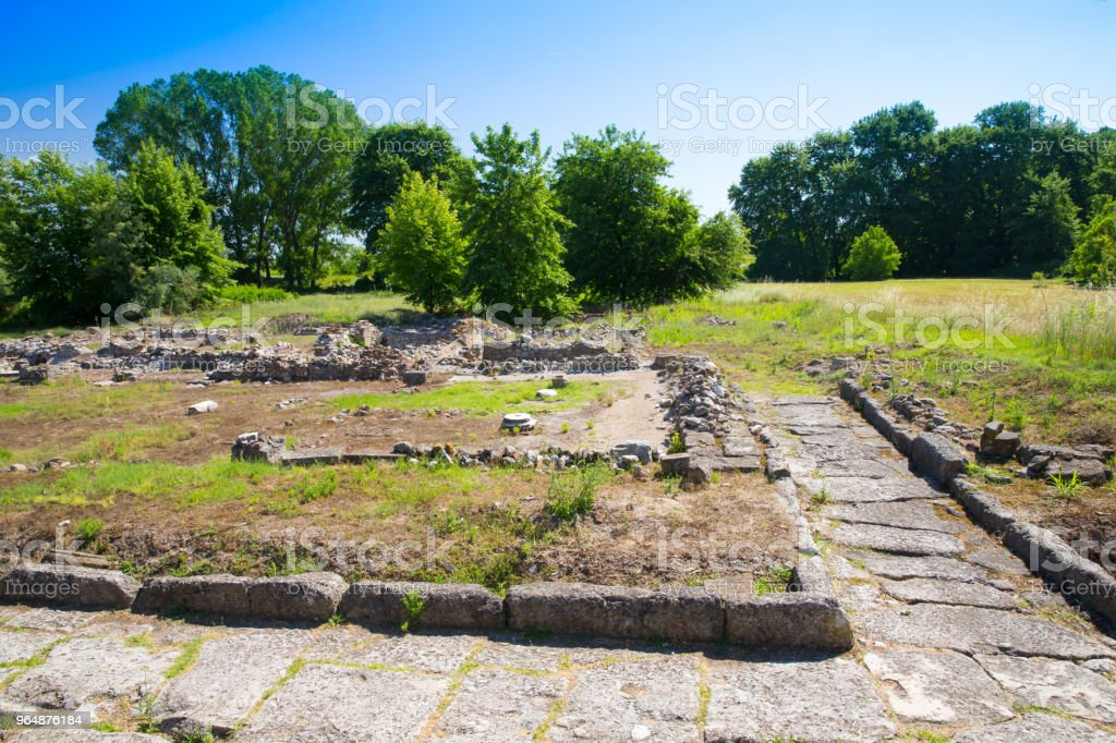Ancient ruins in Dion, Greece. royalty-free stock photo