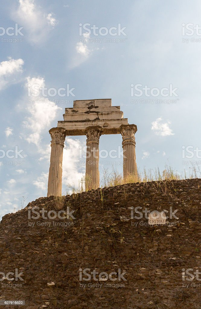 Ancient ruins in Rome stock photo