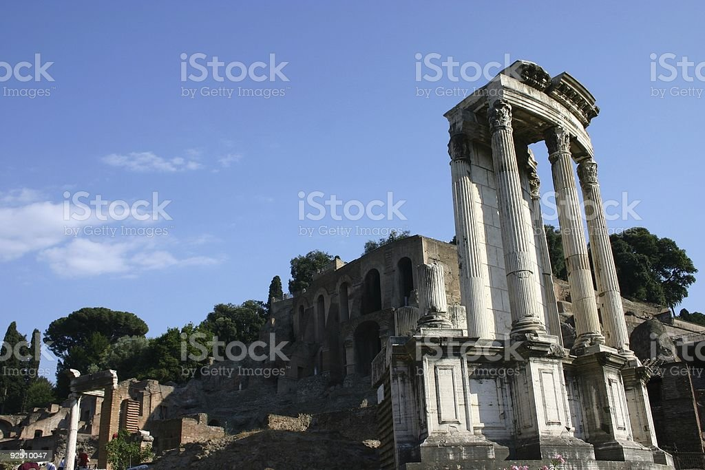 Ancient Ruins in Rome royalty-free stock photo