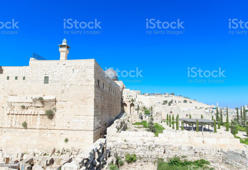 Ancient ruins in the center of Jerusalem, Israel Lizenzfreies stock-foto