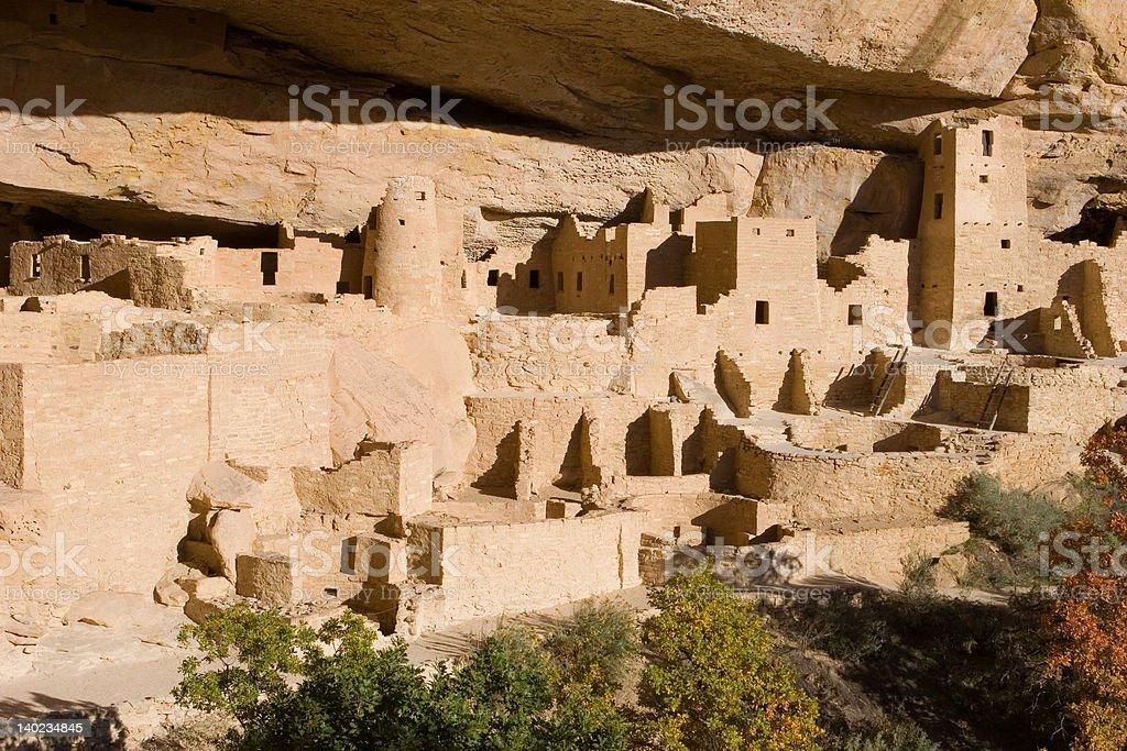 ancient ruins, Mesa Verde, Colorado stock photo