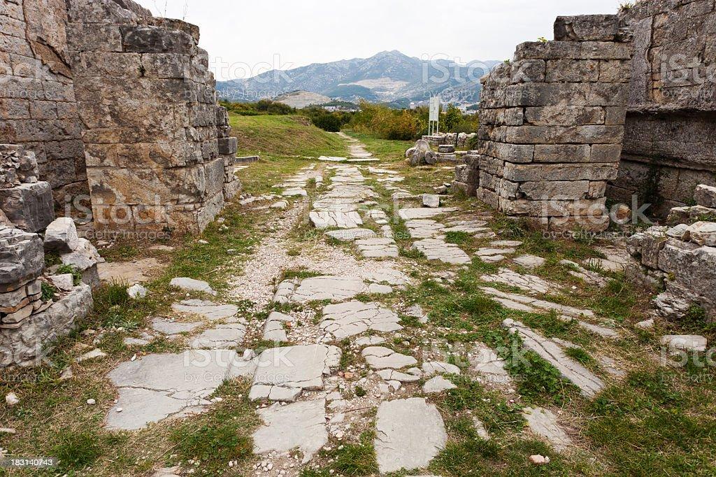 Ancient Ruins Near Split, Croatia stock photo