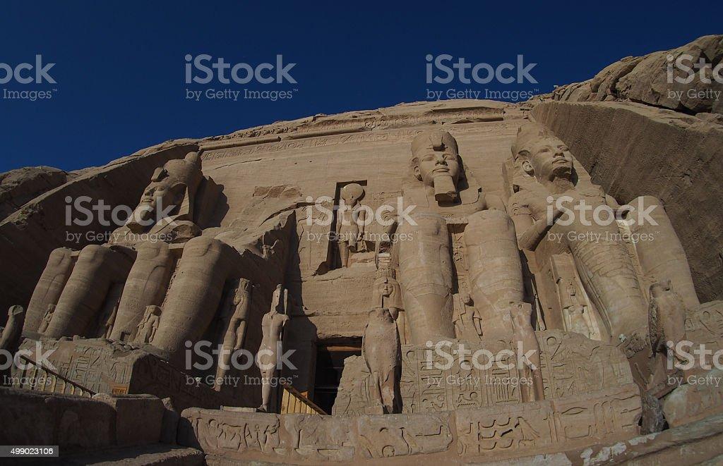 ancient ruins of Abu Simbel, Egypt stock photo