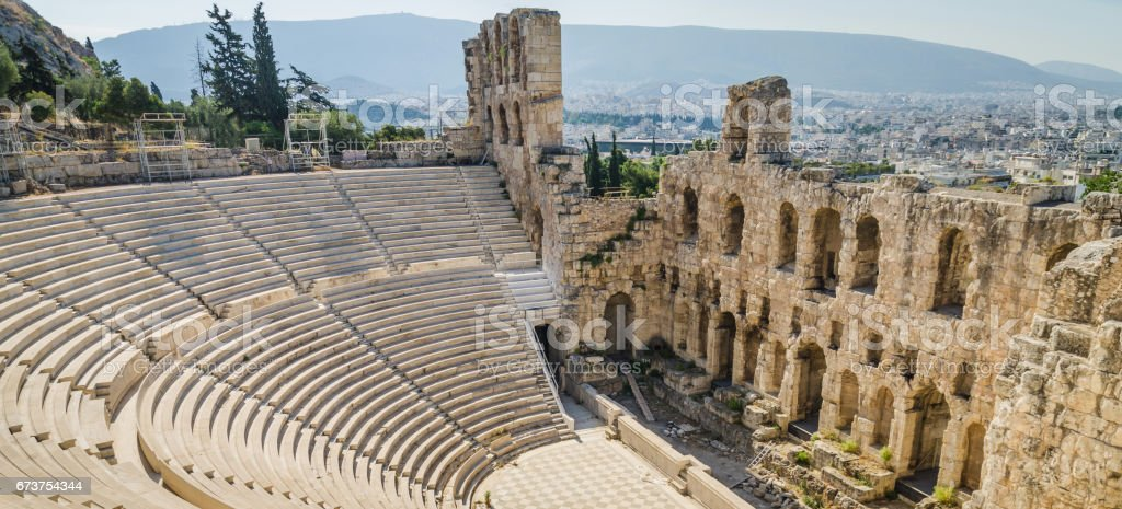 Ancient ruins of Athens, Greece stock photo