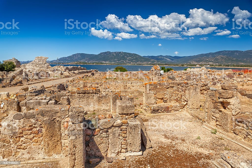 Ancient ruins of buildings stock photo