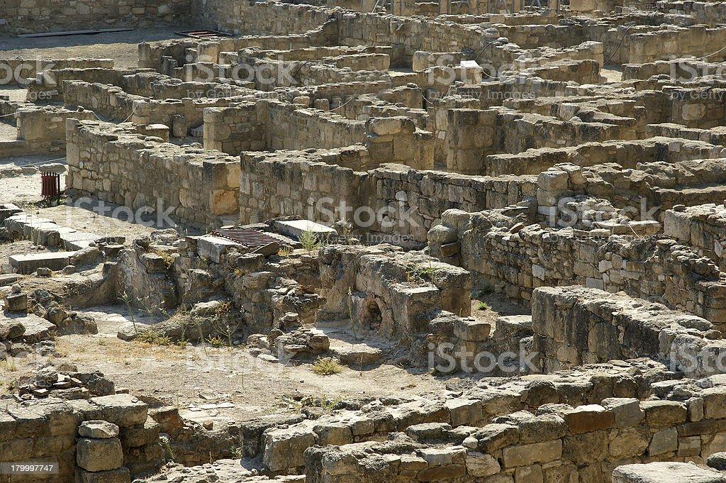 고대 유적 Kamiros, Rhodes-그리스 royalty-free 스톡 사진