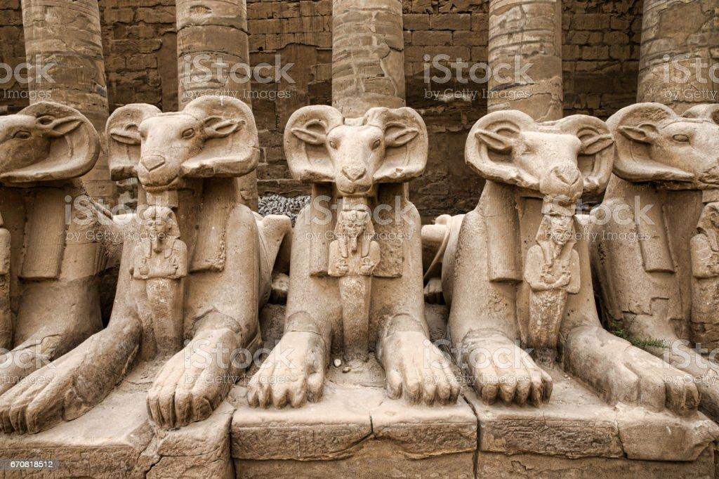 Ancient ruins of Karnak stock photo