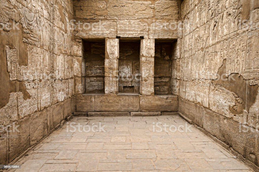 Ancient ruins of Karnak royalty-free stock photo