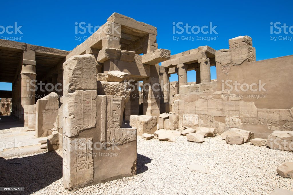 Ancient ruins of Karnak temple in Egypt photo libre de droits
