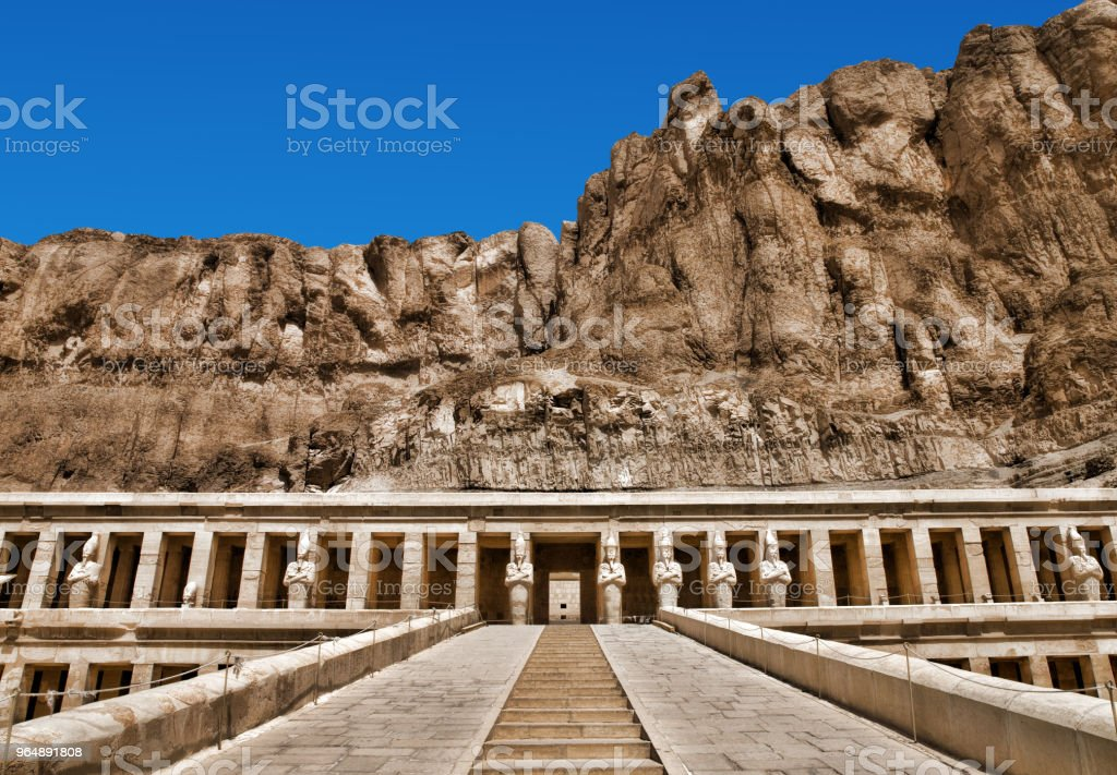 Ancient ruins of Karnak temple in Egypt royalty-free stock photo