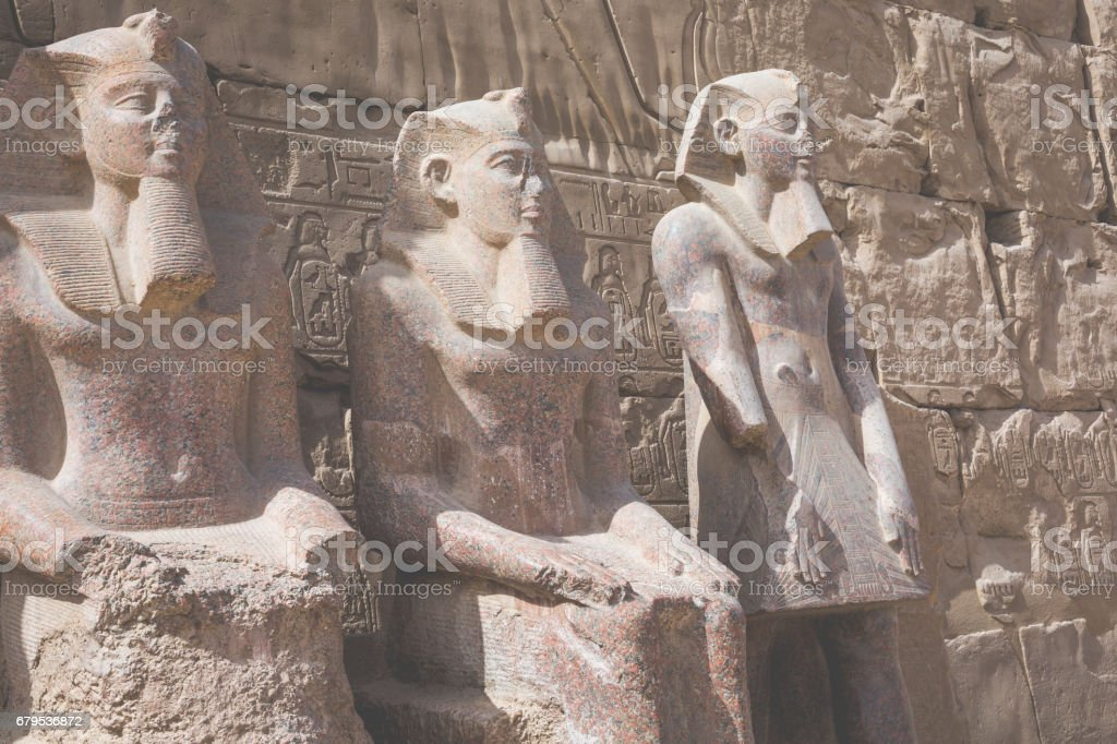 Ancient ruins of Karnak temple in Luxor. Egypt royalty-free stock photo
