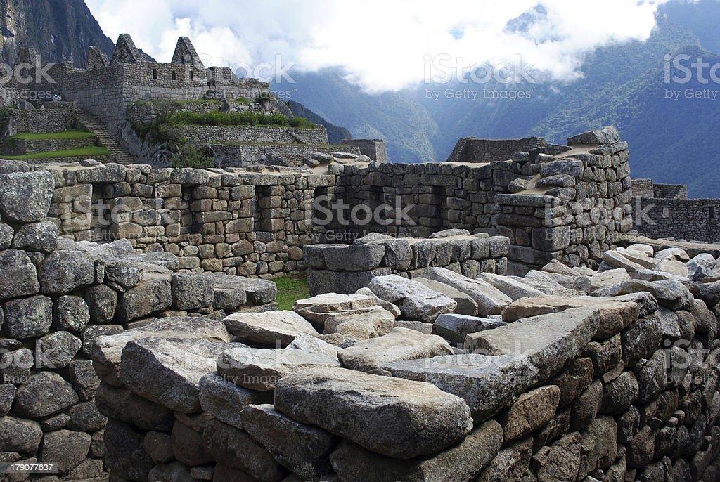 Ancient ruins of Machu Picchu stock photo