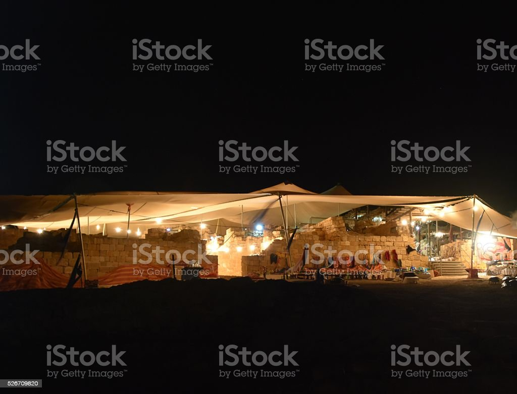 Ancient ruins of Nabataean city Memphis, Israel stock photo