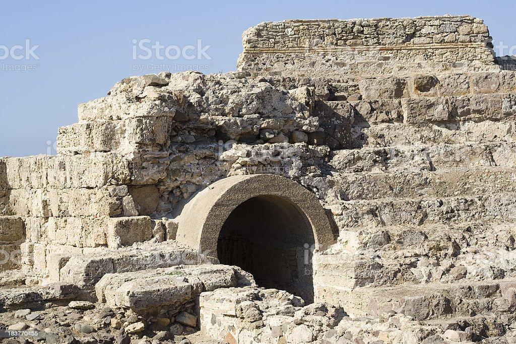 Ancient ruins of Nora, Sardinia, Italy stock photo