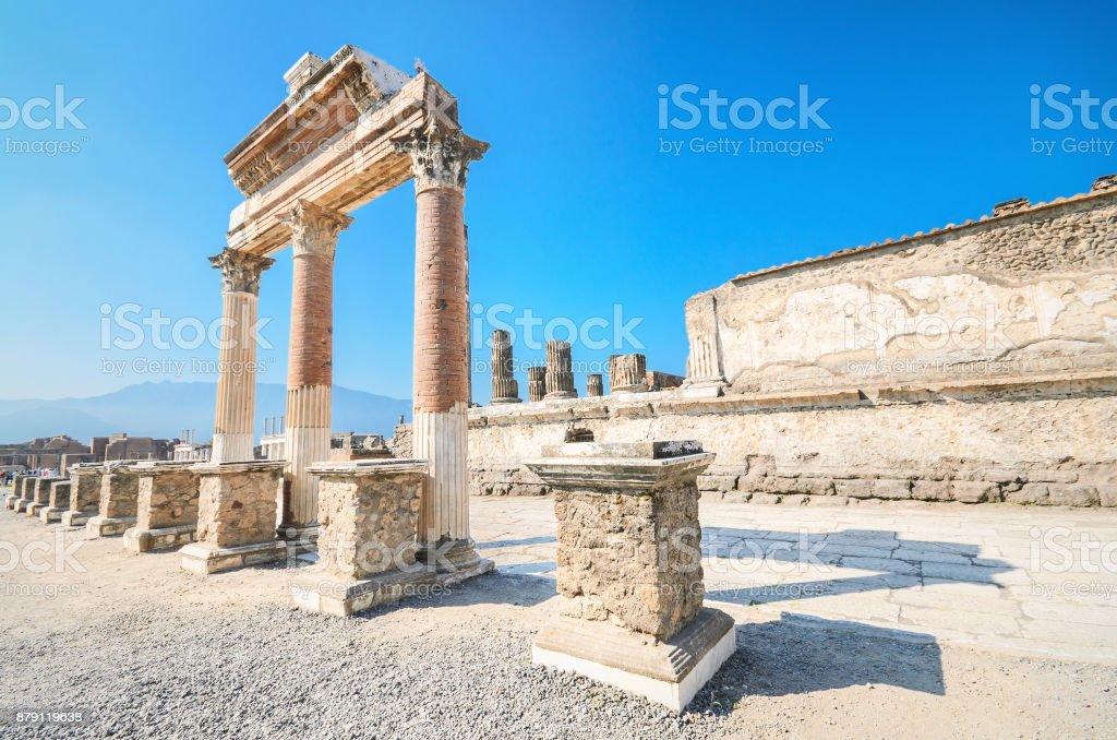 Antigas ruínas de Pompeia, Itália. - foto de acervo