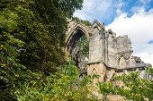 istock Ancient ruins of St. Mary's Abbey, York 508961613