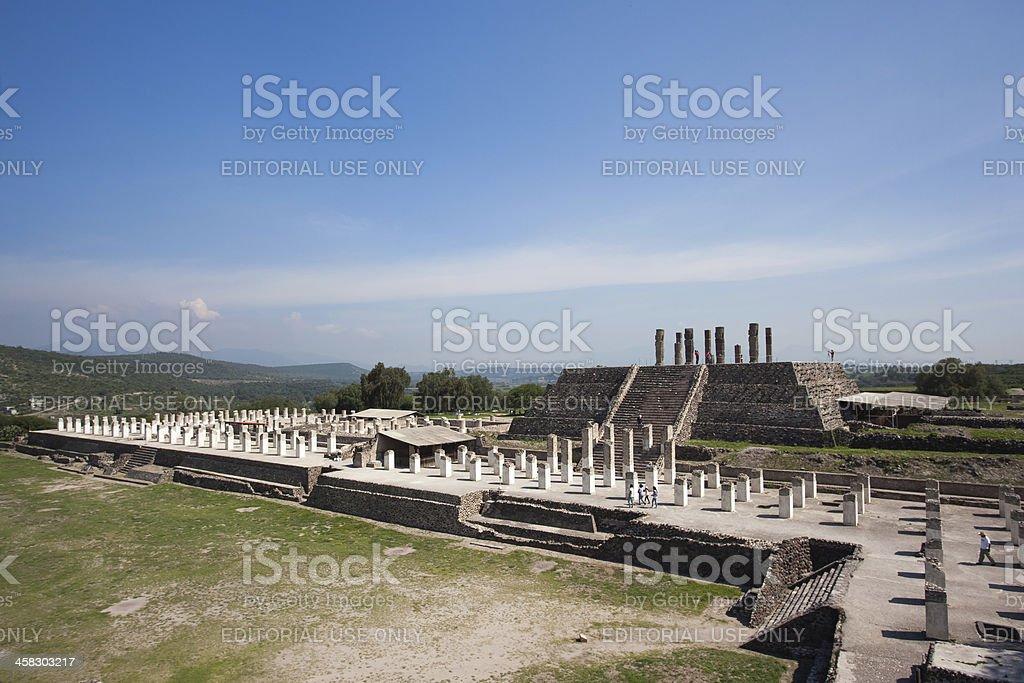 Ancient ruins of Tula de Allende stock photo