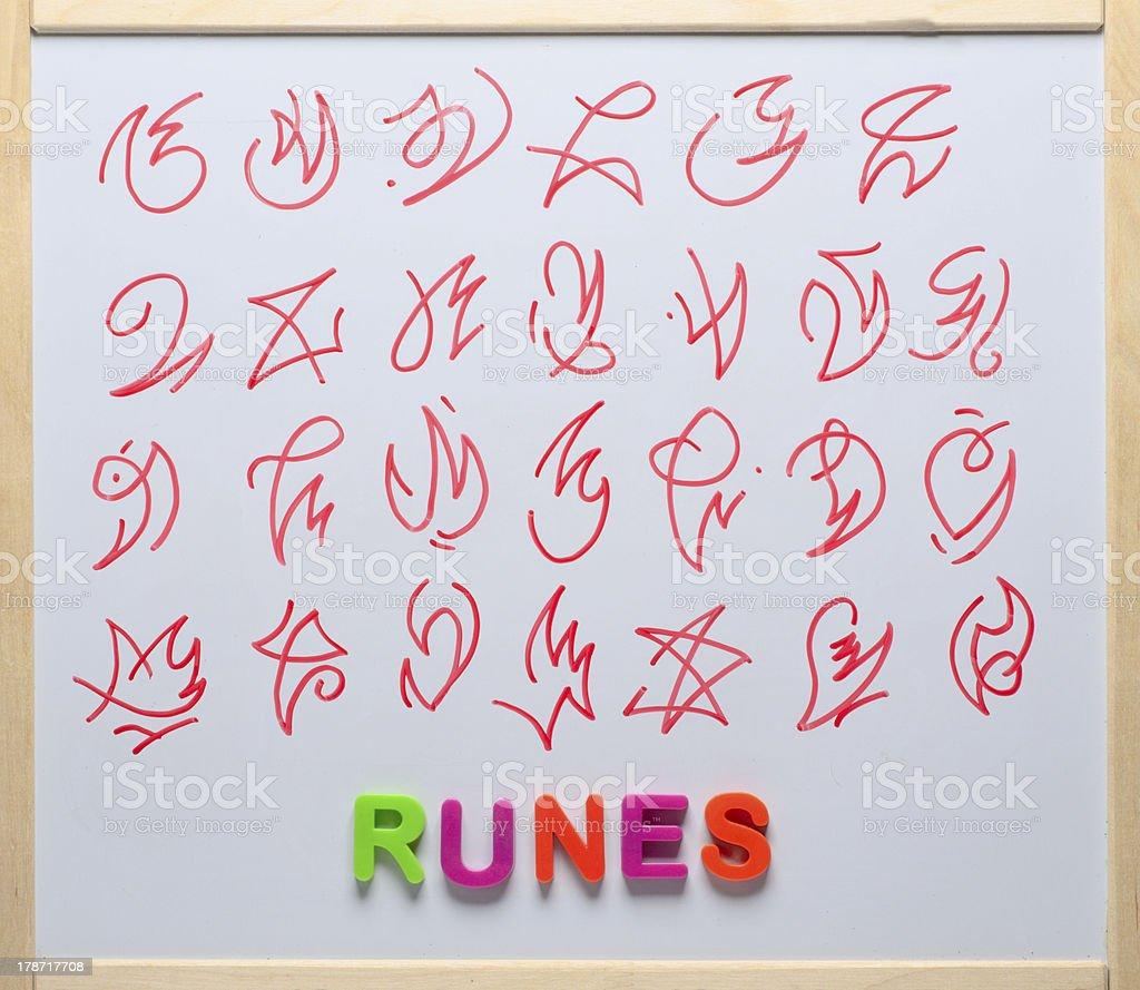 Ancient Runes royalty-free stock photo