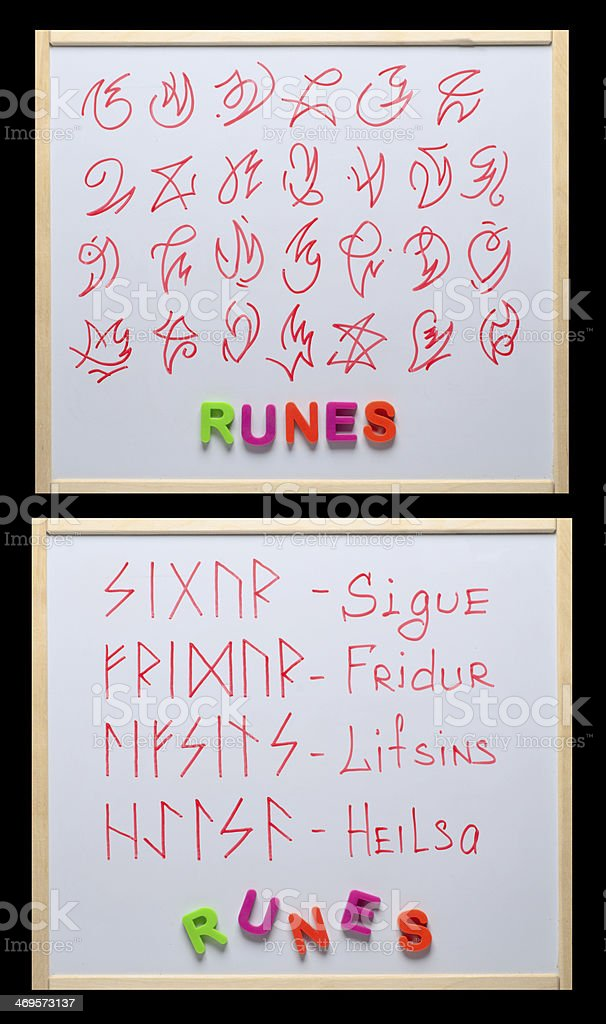 Ancient Runes royalty-free stock photo