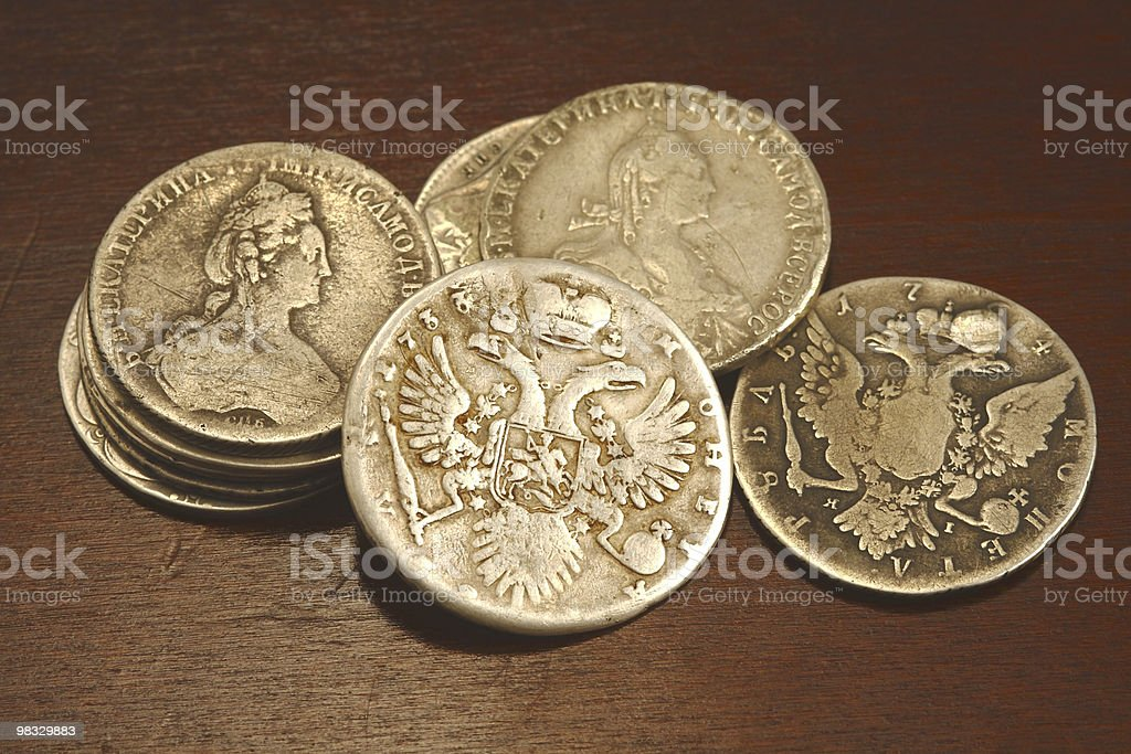 ancient russian coins royalty-free stock photo