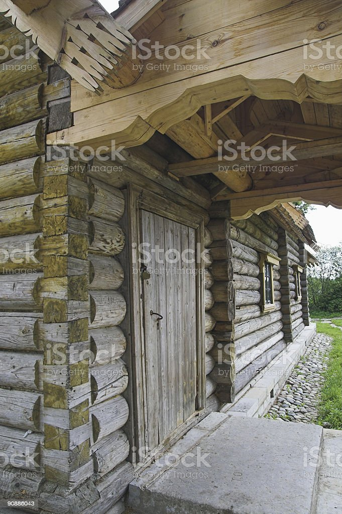 Ancient Russian loghouse royalty-free stock photo