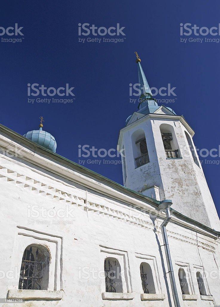 ancient Russian orthodox monastery stock photo
