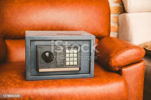 Ancient Safe on Sofa