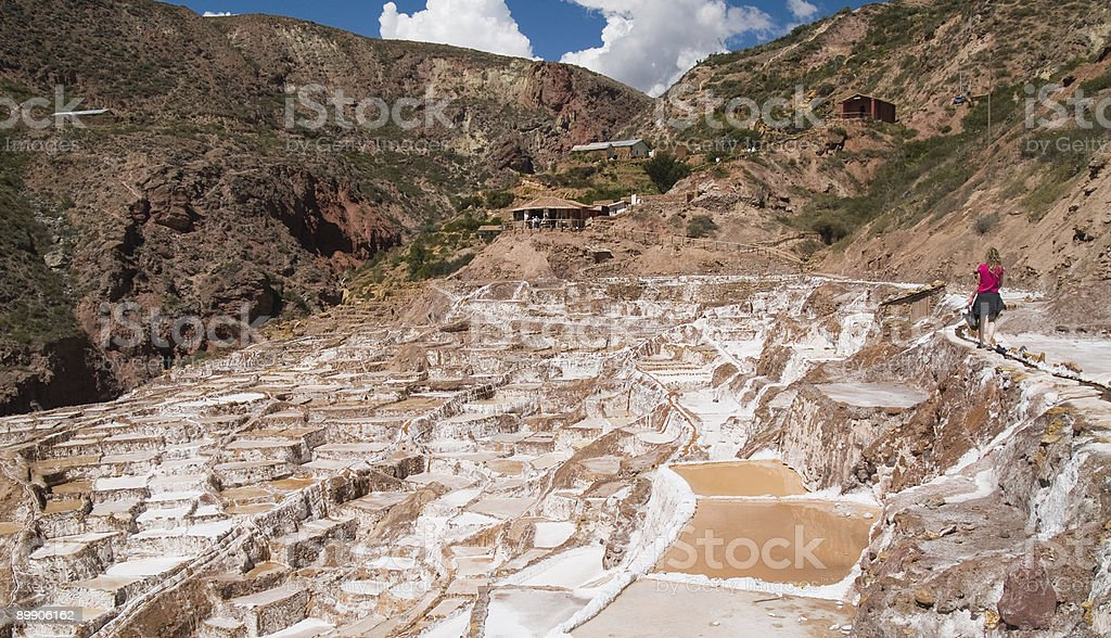 Ancient Salt basins royalty-free stock photo