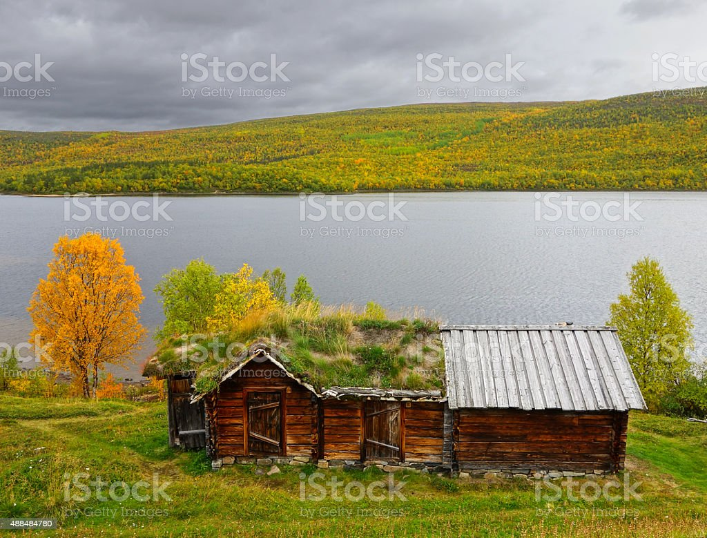 ancient sami house stock photo