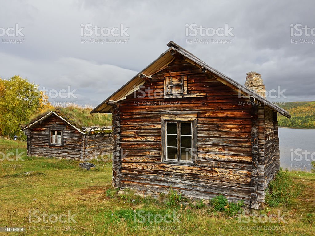 ancient sami village stock photo