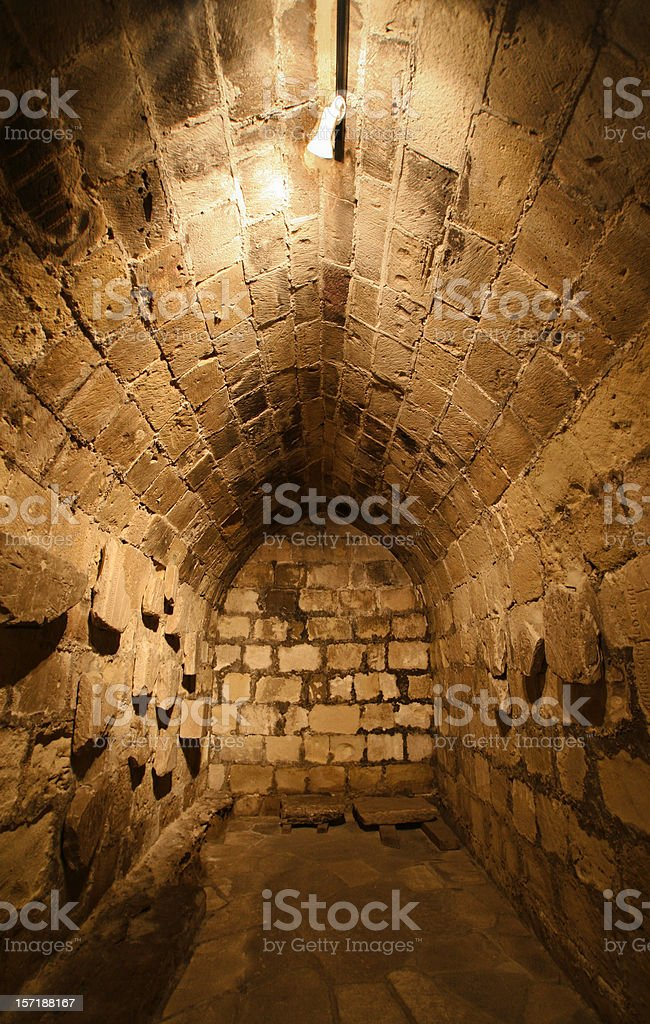 Ancient sandstone tomb royalty-free stock photo