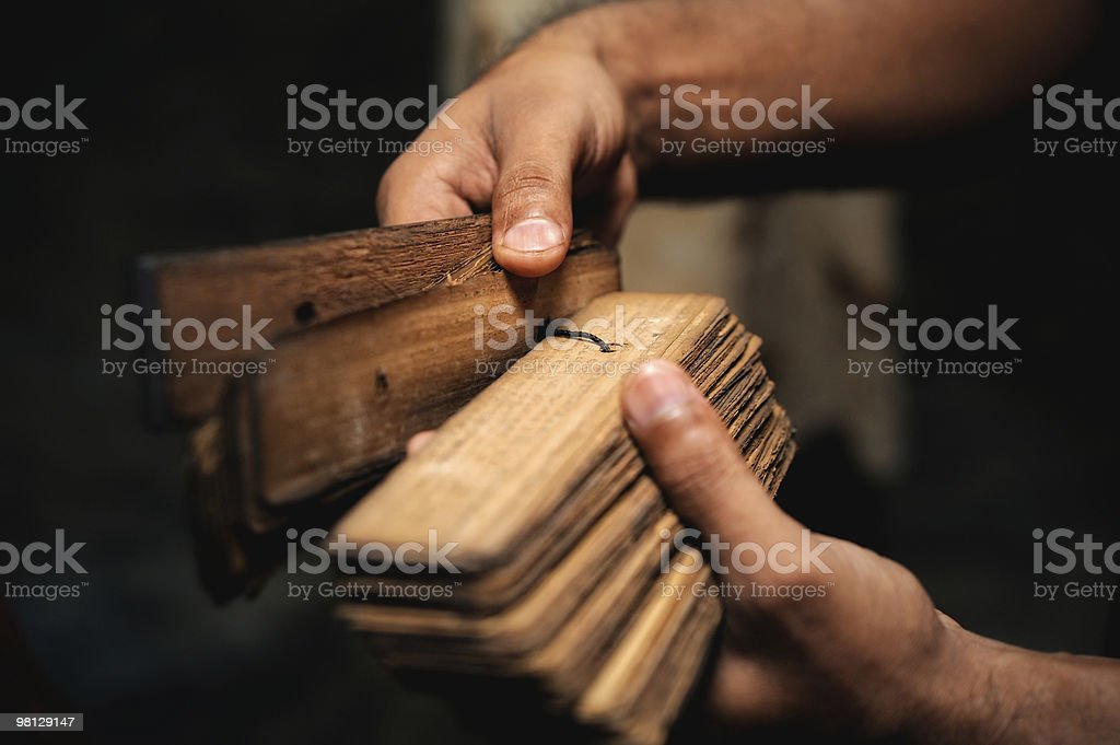 Ancient  Sanskrit royalty-free stock photo