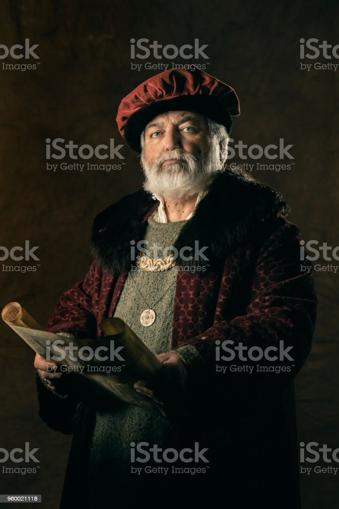 Ancient scribe stock photo