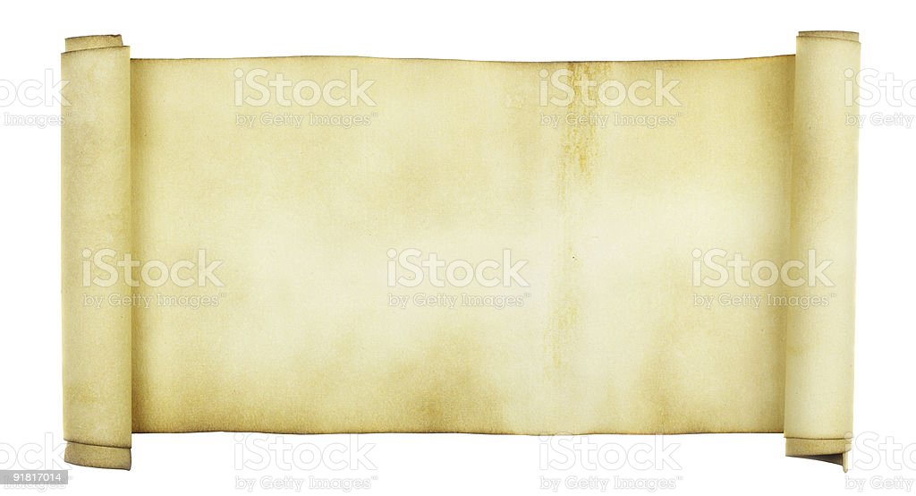 Ancient scroll royalty-free stock photo