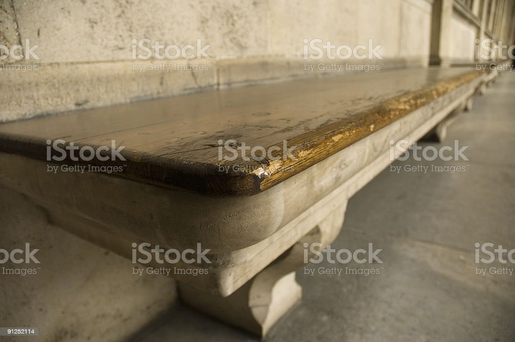 Ancient seats stock photo