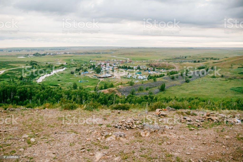 ancient settlement of Arkaim stock photo