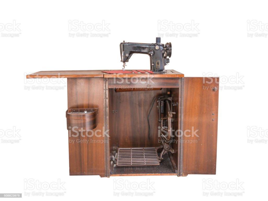 Machine A Coudre Ancienne photo libre de droit de ancienne machine À coudre isolé sur