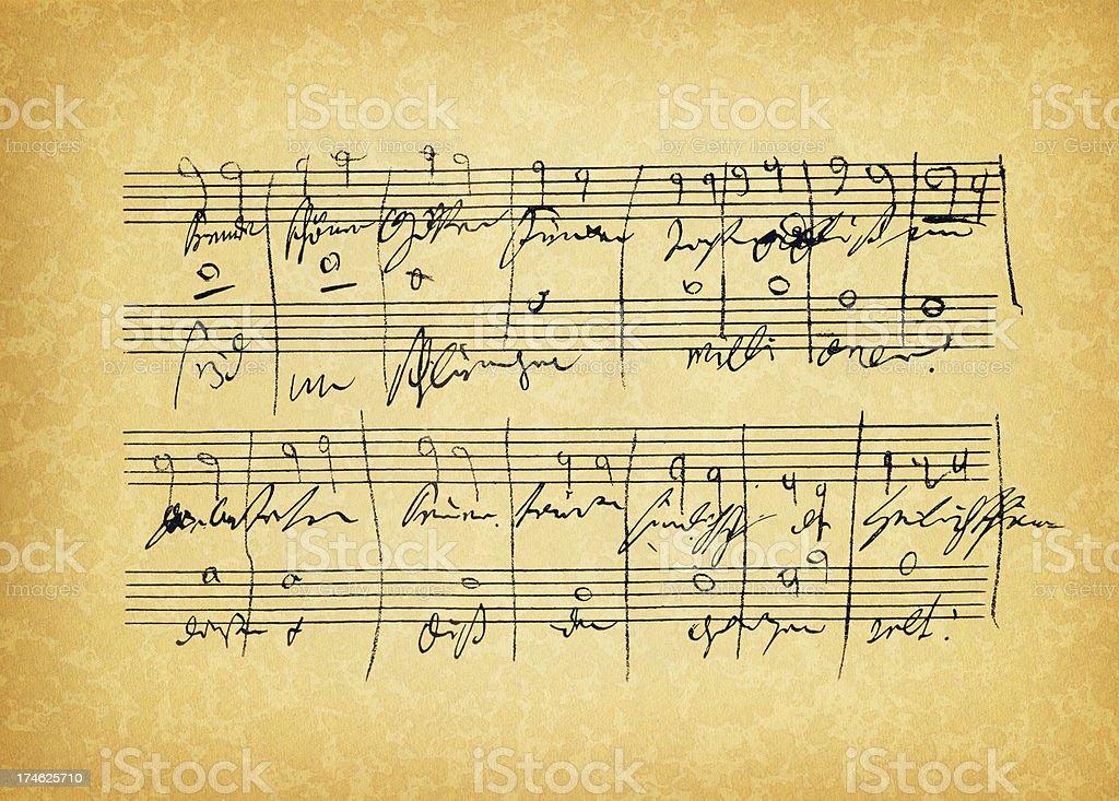 ancient sheet music royalty-free stock photo