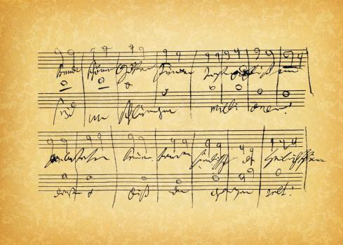 ancient sheet music
