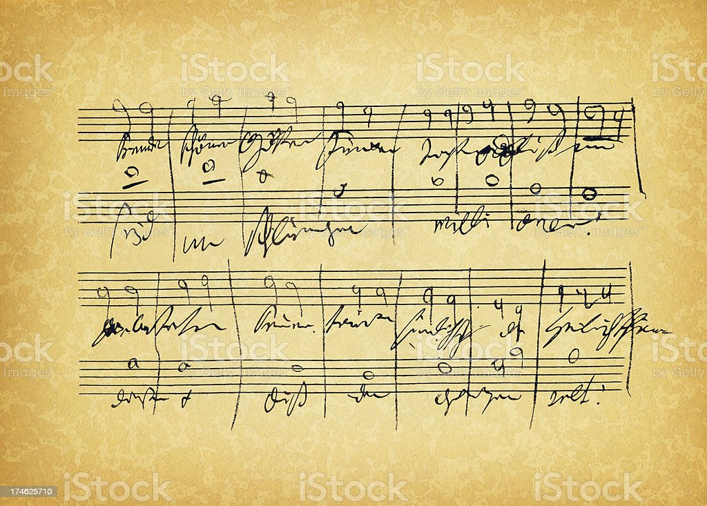 ancient sheet music stock photo