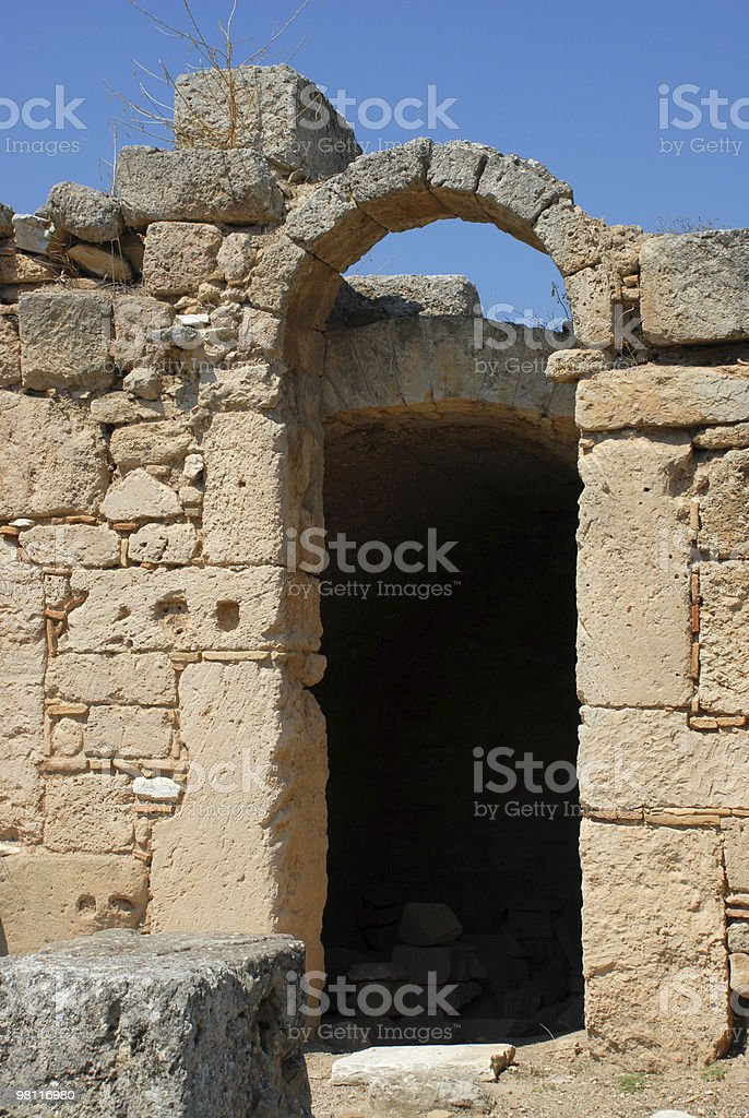 Ancient Shop Entrance in Ruins royalty-free stock photo