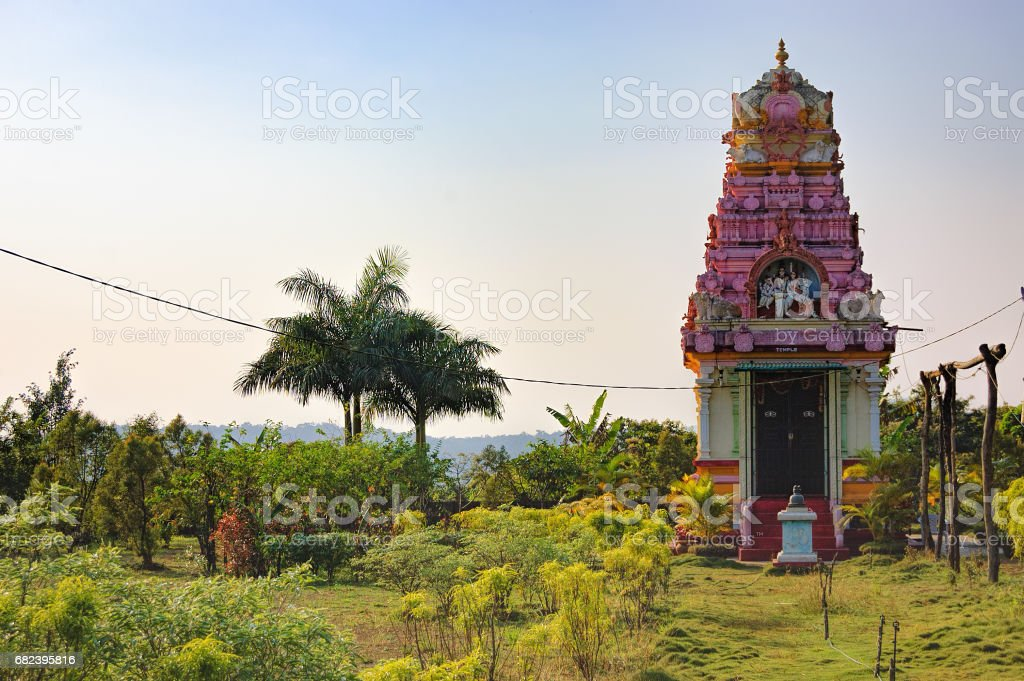 Ancient small Hindu temple in Goa, India royalty-free stock photo