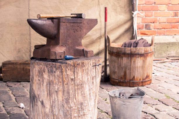 Ancient smithy stock photo
