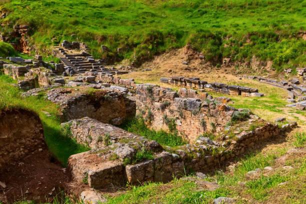 ancient Sparta ruins, Peloponnese, Greece stock photo