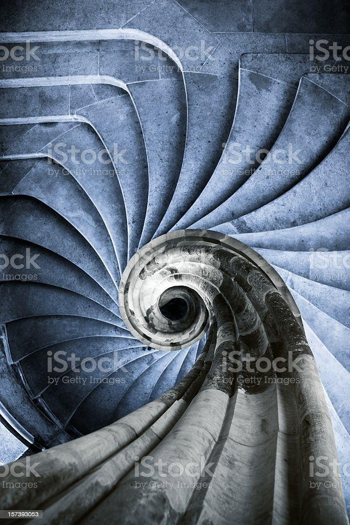 ancient spiral staircase royalty-free stock photo