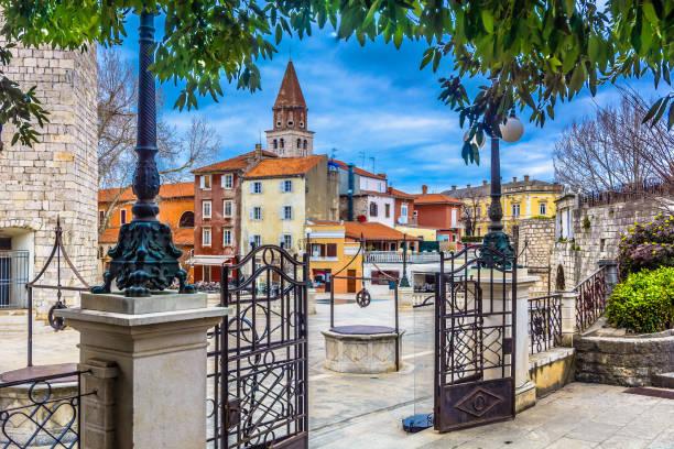 Alten Platz im Zentrum der Stadt Zadar, Kroatien. – Foto